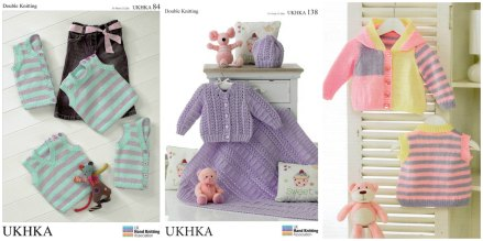 UK Hand Knitting baby patterns