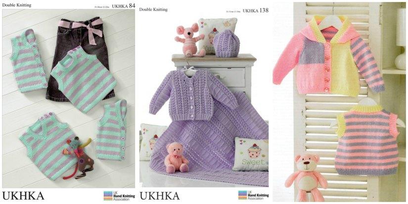UK Hand Knitting baby patterns