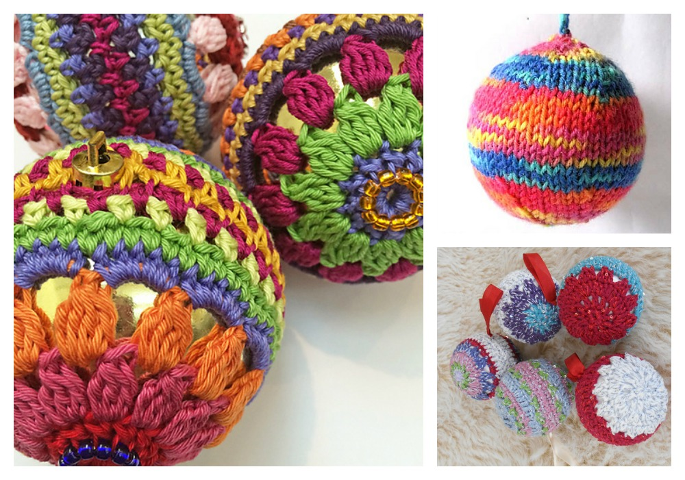 Knitted and crocheted Christmas decorations