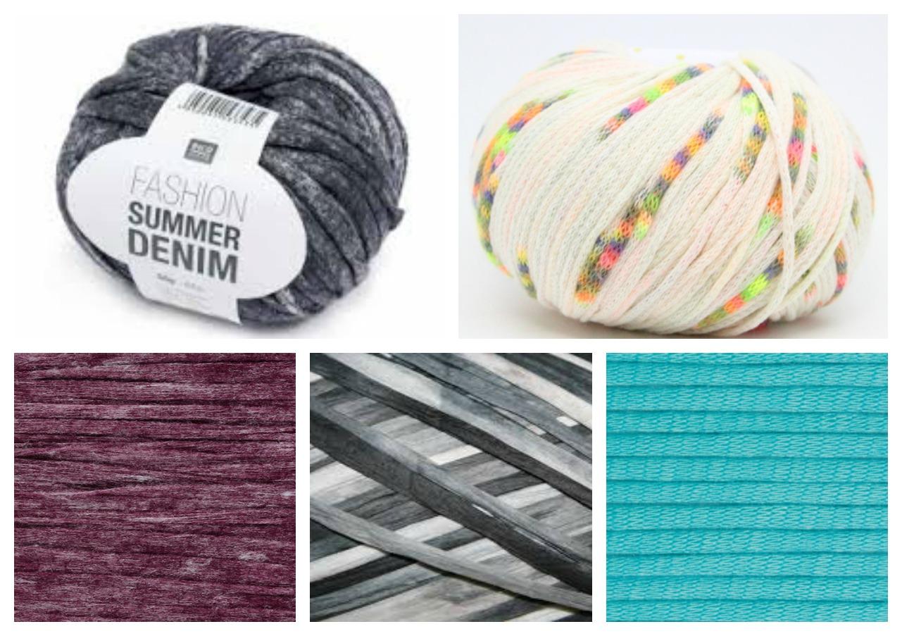 Using tape and ribbon yarn