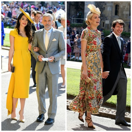 twllow dresses at royal wedding