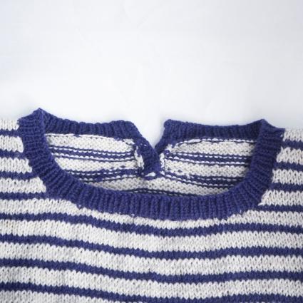 knitted neckline