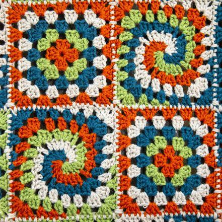 crochet blanket close up crop
