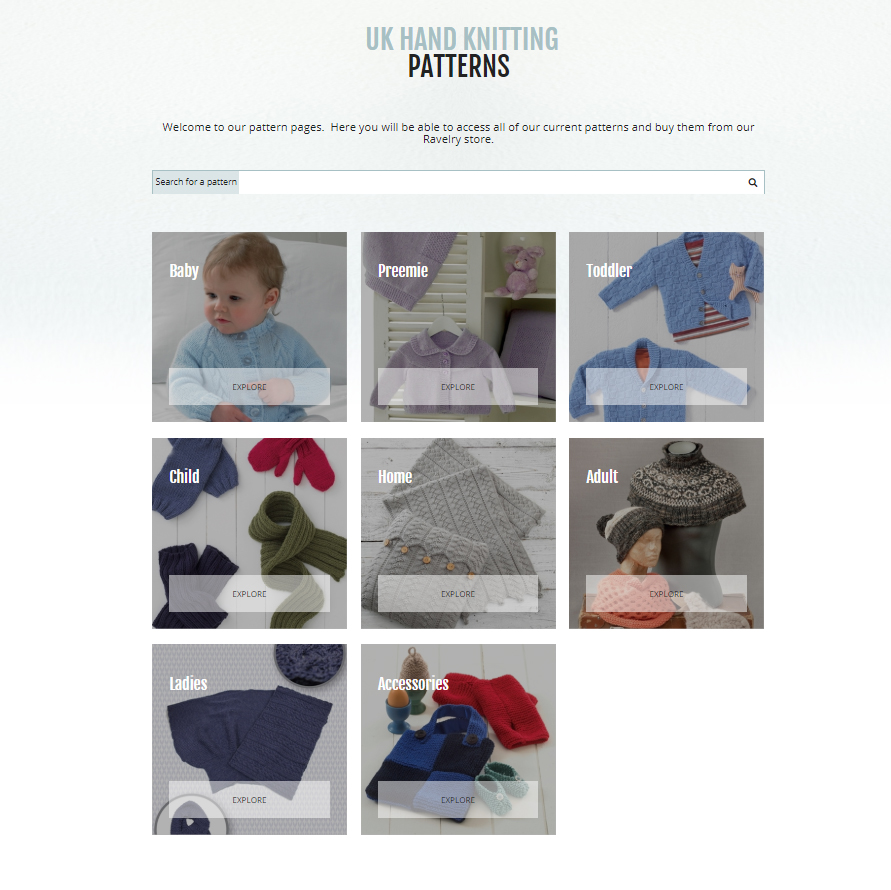 pattern home page