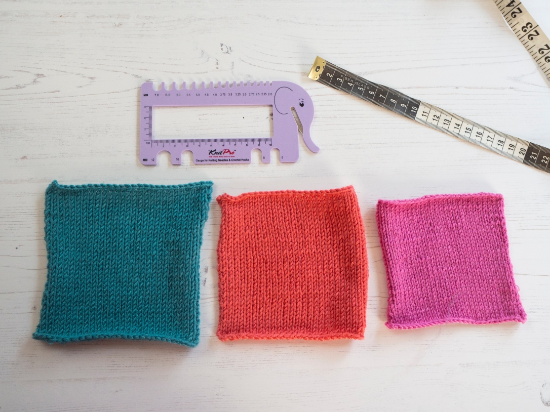 Measuring knitted tension