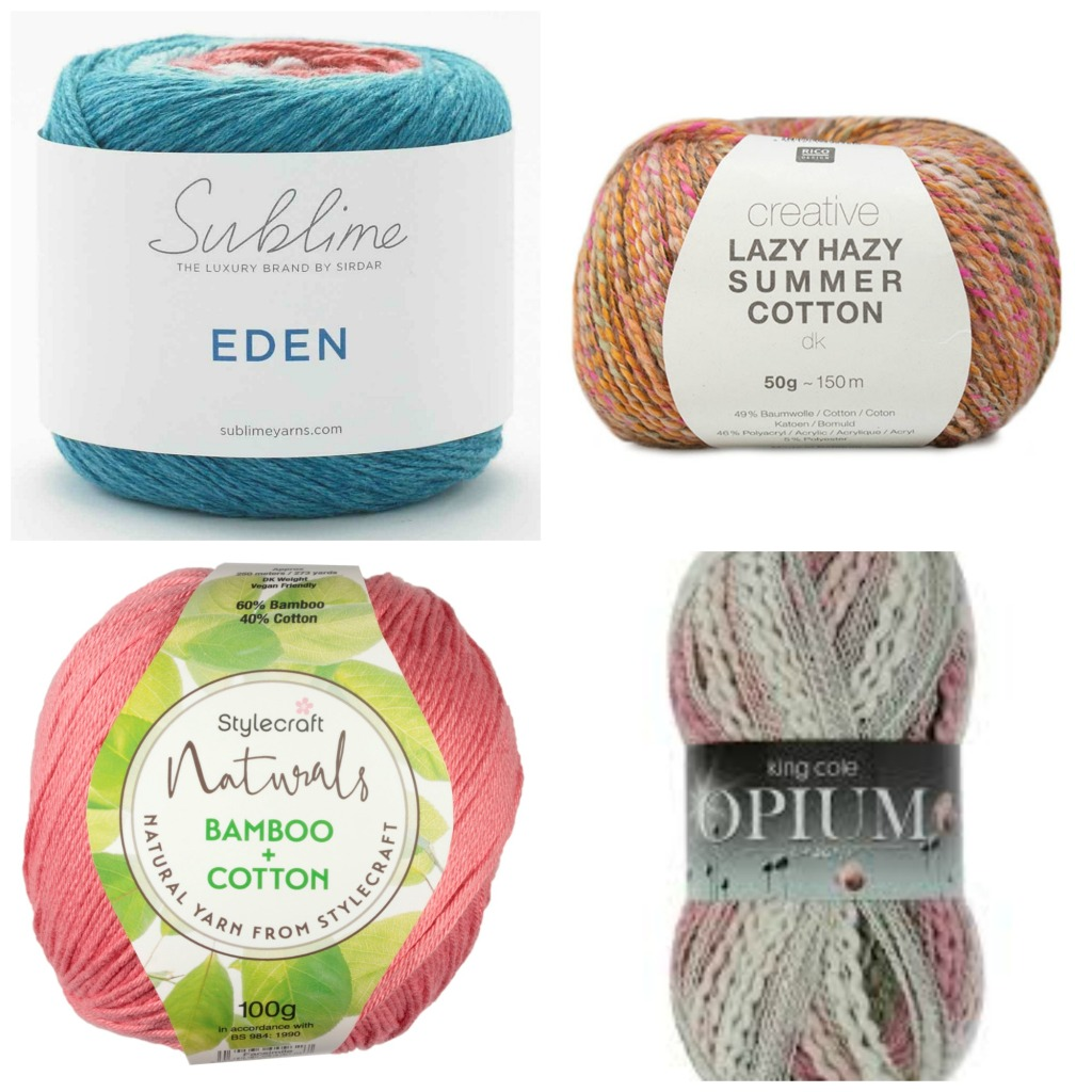 Rico Creative LAZY HAZY Summer Cotton Cotton Mix DK Knitting Crochet Yarn 50g